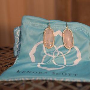 Kendra Scott Elle Gold & Rose Quartz Earrings